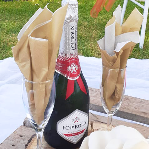 Picnic champagne